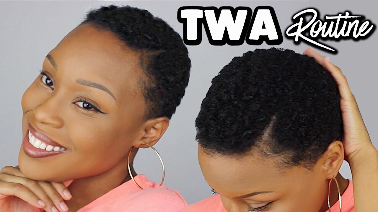 styling my 4c twa/short natural hair | quick & easy routine
