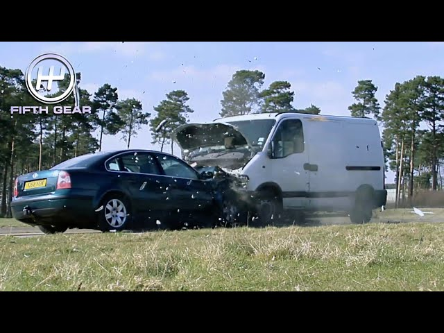 What happens when a Van crashes with a 1ton load in the back? | Fifth Gear
