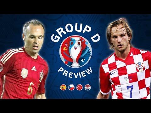 EURO 2016 Group D Preview | Spain, Turkey, Czech Republic & Croatia