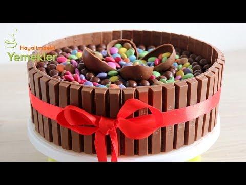 Böyle Pasta Yapmak Çok Kolay / Bol Çikolatalı Kitkat Pasta Tarifi - Kolay Pasta