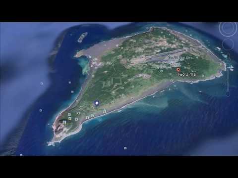 Iwo Jima Flag Raising location from Google Earth