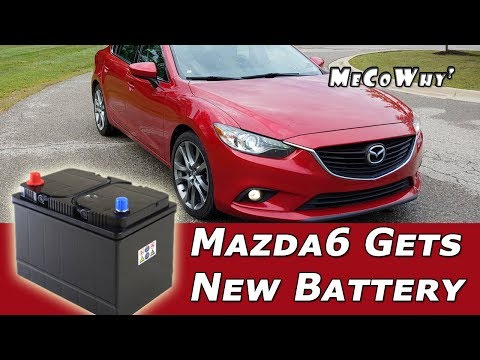 How to Replace a Battery on 2015 Mazda 6. It Started Hard So I Replaced the Battery