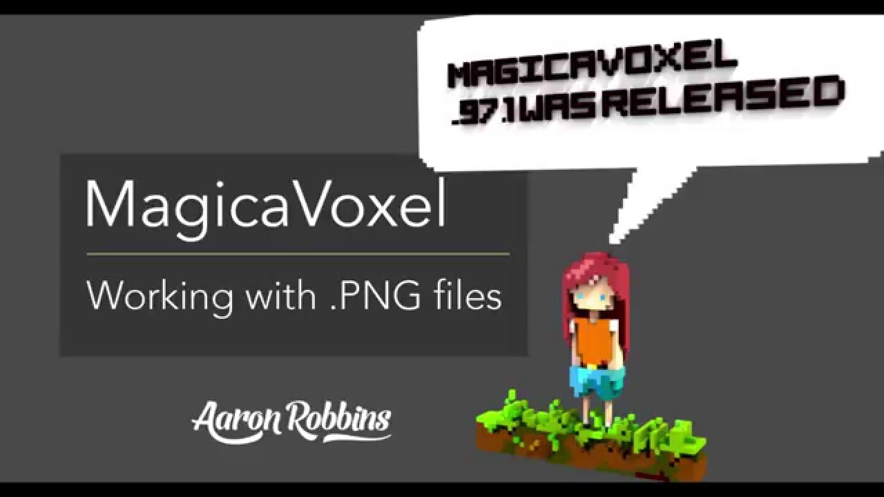 Using PNG Images to Create MagicaVoxel Models