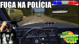 My Summer Car - Fuga Na Polícia - Capotei o Carro & Fiquei Perdido Na Estrada - G27 - Pov GoPro