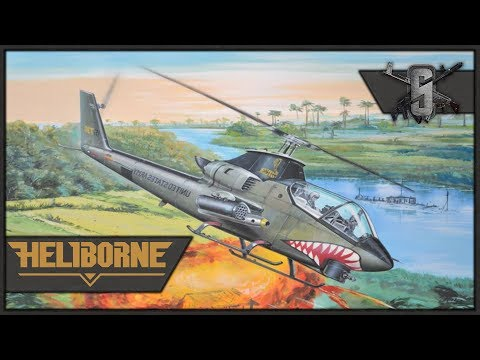 UH-1 Huey's and AH-1 Cobra's in Vietnam - Heliborne - USA Campaign