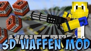 Minecraft 3D WAFFEN MOD (Granatwerfer, Minigun, Schwerter) [Deutsch]