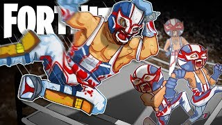 The Lucha Libres! w/ Courage, Ninja, & TimTheTatman - Fortnite Battle Royale