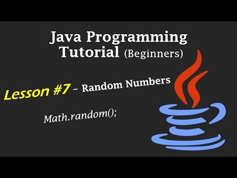 Java Programming Tutorial - Lesson #7 - Random Numbers (Math.random();)