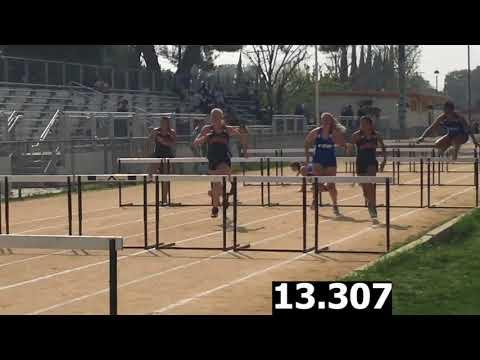 Girls Varsity 100m Hurdles-Cleveland vs. El Camino Real Dual Meet 4/5/18 (Res in Desc for Cavs)