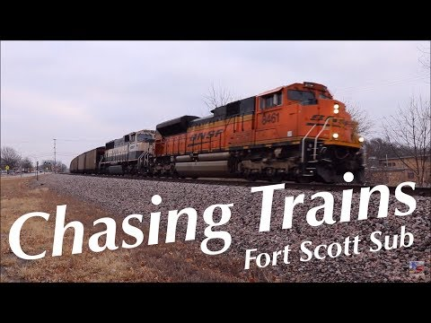 Chasing Trains on the BNSF Fort Scott Sub in Lenexa, KS January 20, 2018