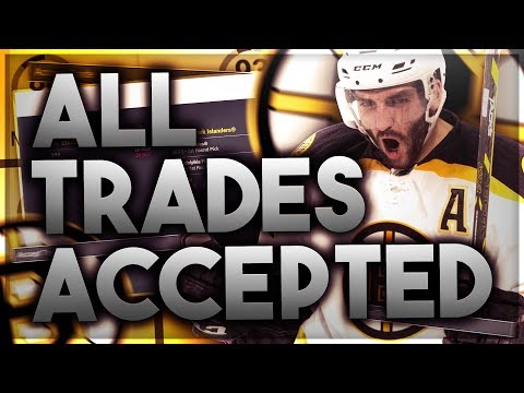 ACCEPTING ALL TRADES WITH THE BOSTON BRUINS! (NHL 18 FRANCHISE MODE CHALLENGE)