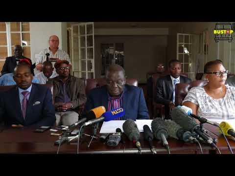 Breaking News: MDC-T leader Dr Morgan Richard Tsvangirai responds