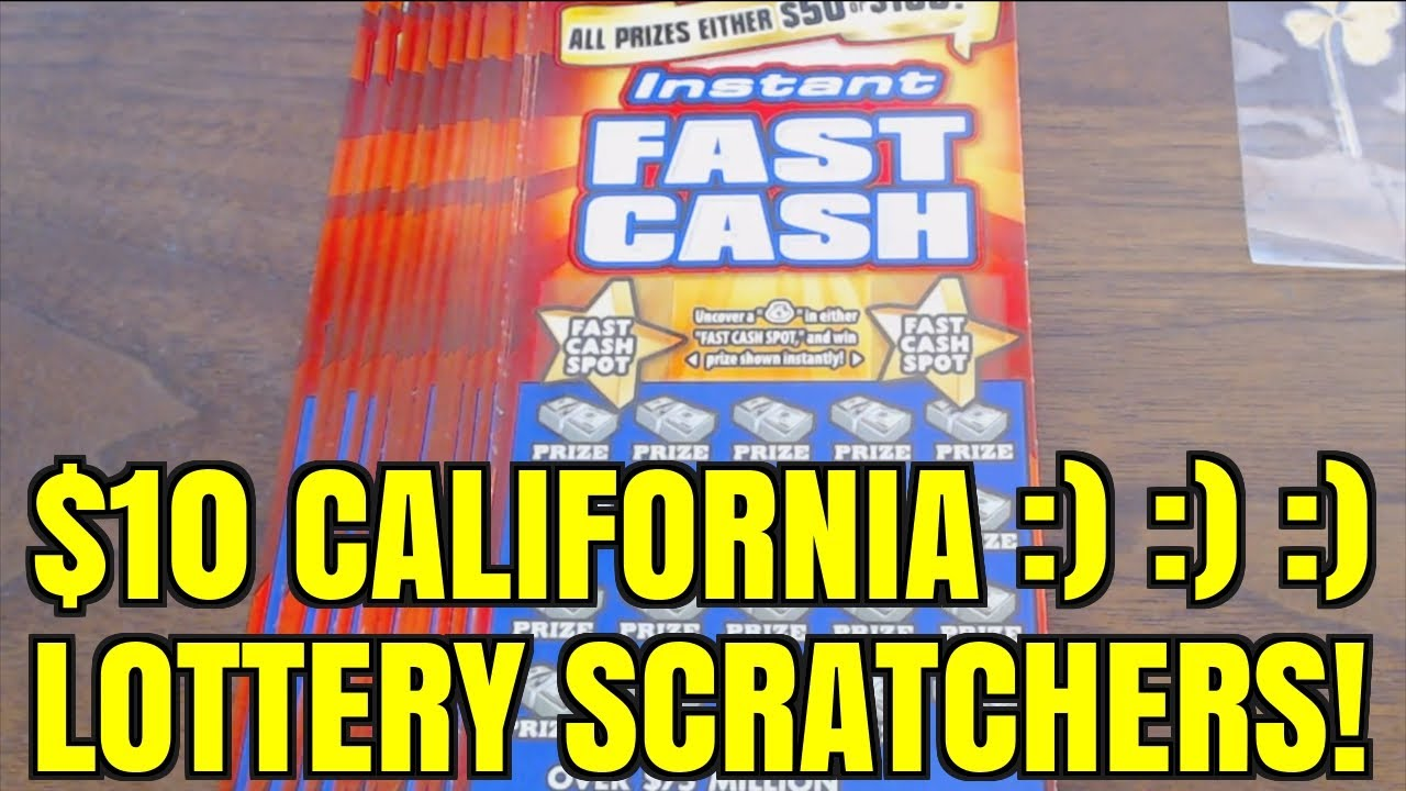PLAYING FOR INSTANT FAST CASH $10 CALIFORNIA LOTTO SCRATCHER!