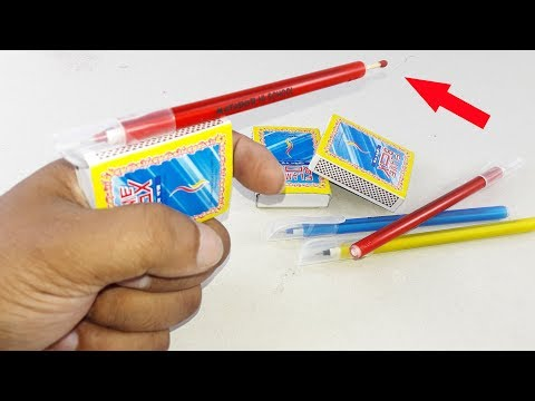 Waste Matchbox & Old pen crafting for Beautiful Home deco | DIY decorating idea