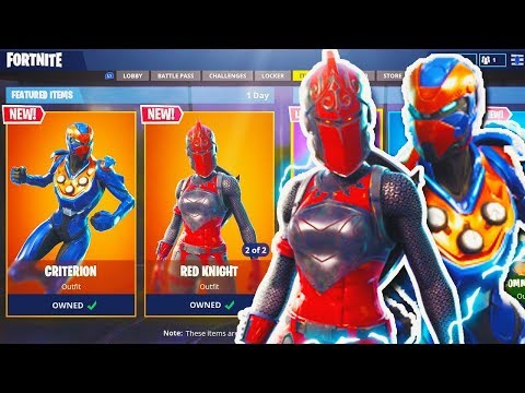 """NEW """"Criterion"""" + """"Red Knight"""" SKIN Gameplay In Fortnite! New Fortnite Update! (Fortnite Red Knight)"""