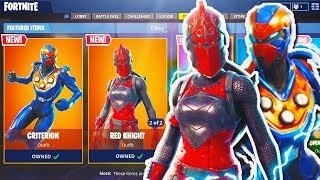 "NEW ""Criterion"" + ""Red Knight"" SKIN Gameplay in Fortnite! New Fortnite Update! (Fortnite Red Knight)"
