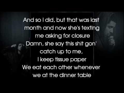 Drake - H. Y. F. R (lyrics on the screen)
