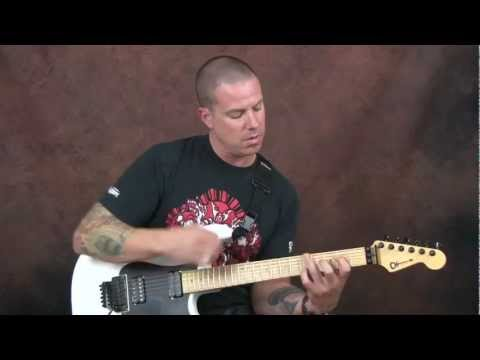 Learn Radiohead inspired guitar lesson mix open & bar chords with lead licks High & Dry style