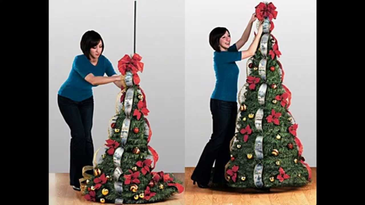pull up christmas tree decorations - Pull Up Christmas Trees Decorated