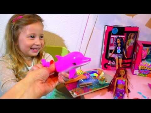 Rodjendanski POKLONI Barbi i Carobni Delfin / Otpakivanje igracaka Barbie Magic Dolphin Unboxing