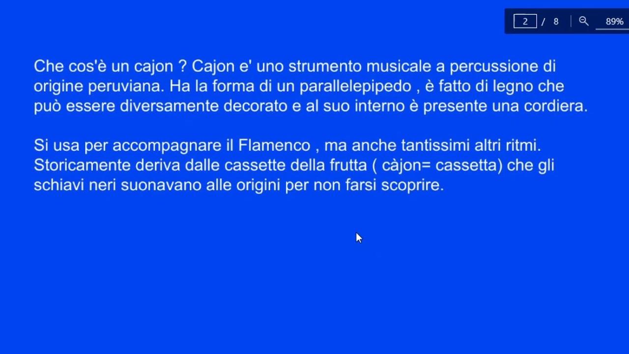 Che Cos È Il Legno lezione#1 coro gabbiano barletta