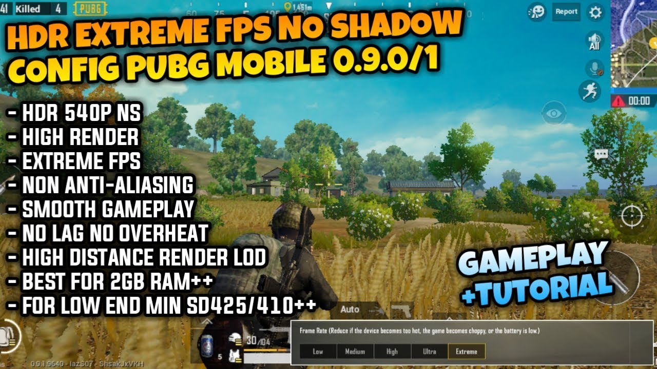 Mantap!! Config PUBG Mobile High Graphic Update 0.9.1 HDR