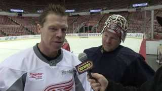 Detroit Red Wings Alumni Showdown - Practice - Interviews - 101 WRIF