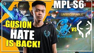 GUSION HATE IS BACK | EXE vs BLU FIRE GAME 1| MPL-PH Season 6 Regular Season Week 6 Day 1