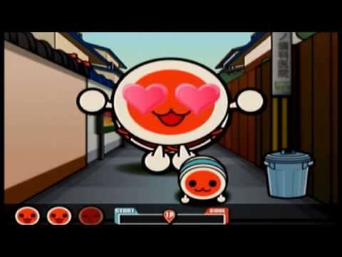 【PS2 Taiko no Tatsujin】minigame Bakusou! Lovelove Donko +BONUS