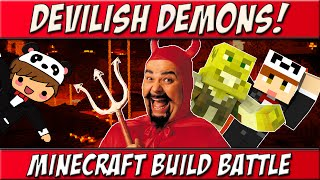 DEVILISH DEMONS! | Team Build Battle w/ SmallishBeans