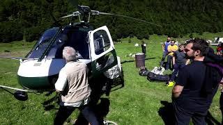 Héliportage en vallée d'Ossau : c'est parti !