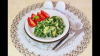 """33. Крит:  """" Шпинат с яйцом  к завтраку """"- вкусно и полезно. Готовим с Elena-Bvlena"""