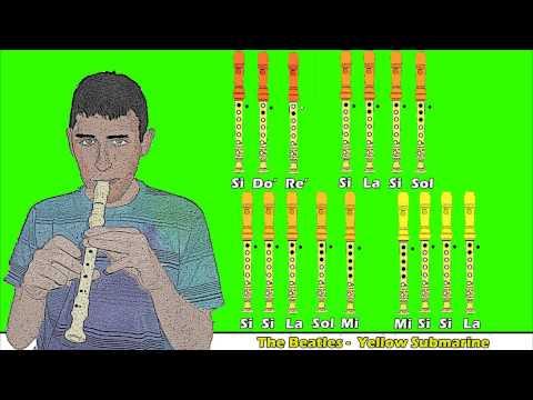 The Beatles - Yellow Submarine en Flauta Dulce con Notas