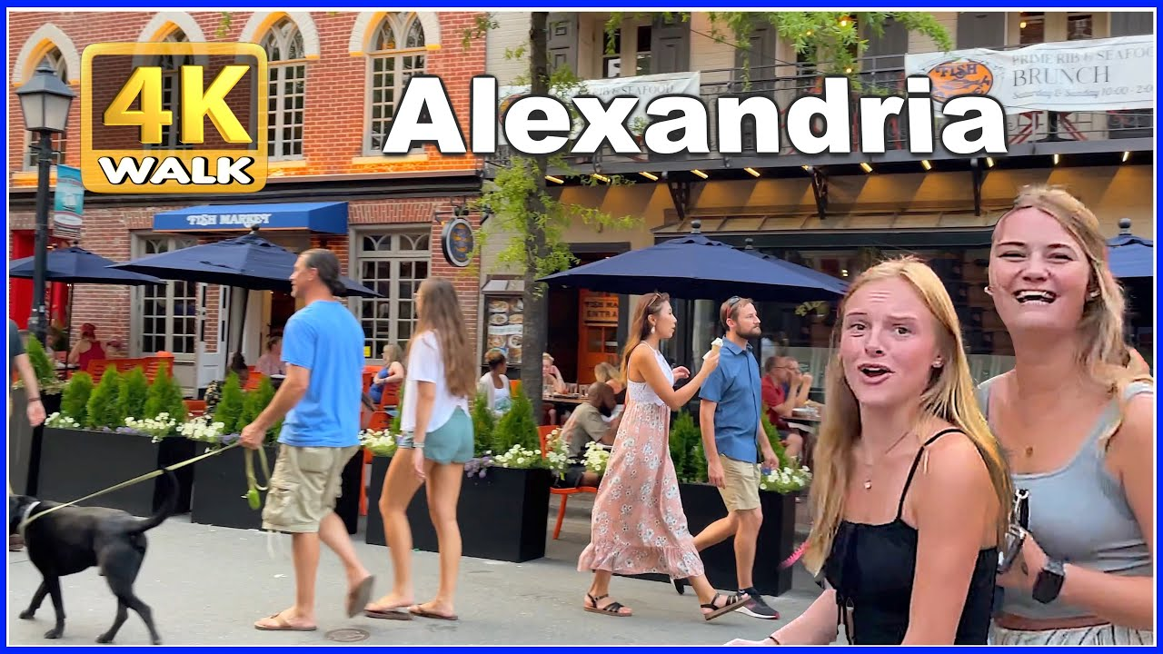 【4K】WALK ALEXANDRIA Virginia VA USA 4k video Travel vlog HDR