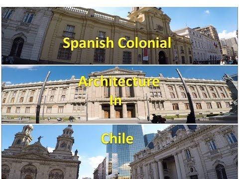 Spanish colonial architecture at Plaza de Armas in Santiago, Chile