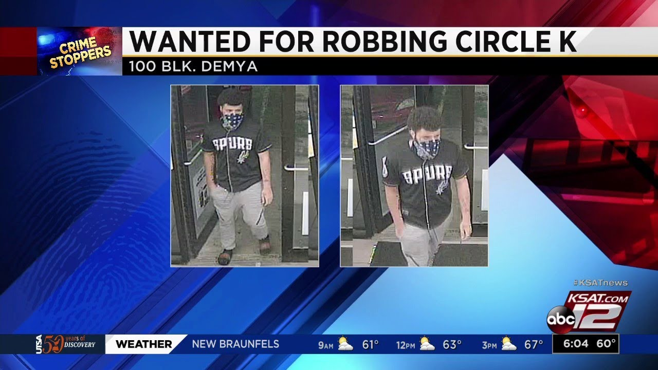 Police search for man suspected of robbing Circle K