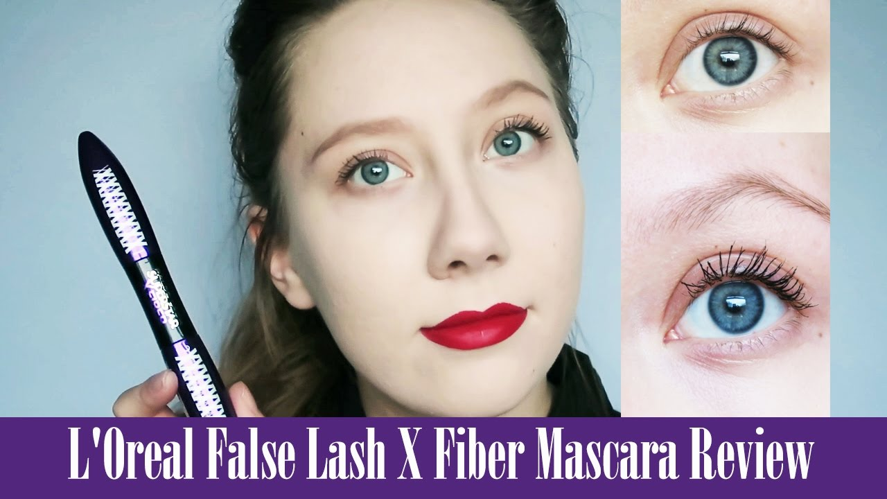 4f22f17f088 L'Oreal False Lash X Fiber Mascara Review ♥ - YouTube