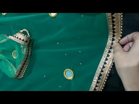 How to decorate dupatta at home