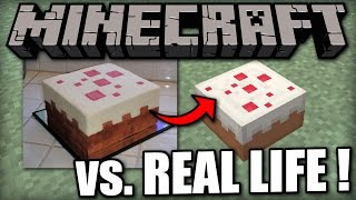 MINECRAFT vs. REAL LIFE ! Cool Minecraft Creations made in Real Life
