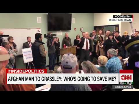 Afghan man to Grassley: 'Who's going to save me?'  Iowa town hall