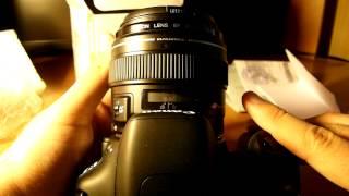 Canon EF 85/1,8 USM Розпакування та короткий огляд/Unboxing