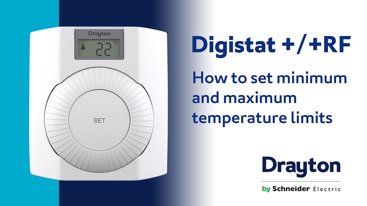 how to set the temperature limits on the drayton digistat and rf rh youtube com Wire Money Wired Doorbell Installation