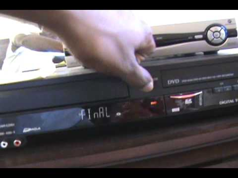 Malfunctioning issues with Panasonic VHS - DVD Recorder DMR-EZ48V