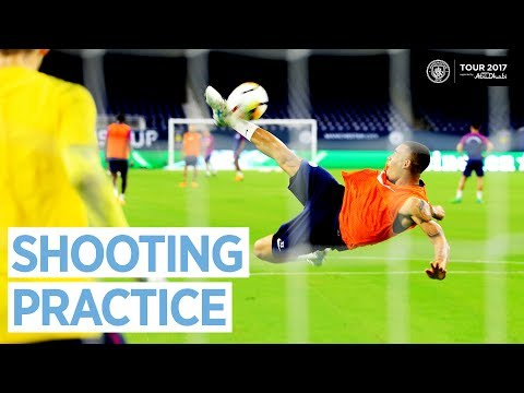 MAN CITY SHOOTING PRACTICE! | Man City US Tour Open Training Day 3