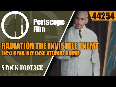 RADIATION THE INVISIBLE ENEMY  1957 CIVIL DEFENSE  ATOMIC BOMB & FALLOUT FILM  44254