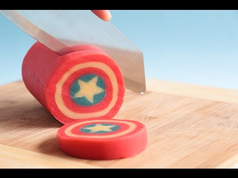 Captain America Shield Cookie Log- Rosie's Dessert Spot