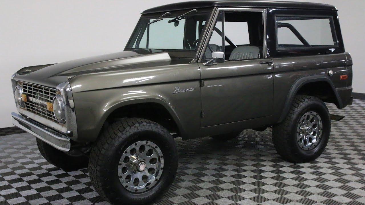 1975 ford bronco silver