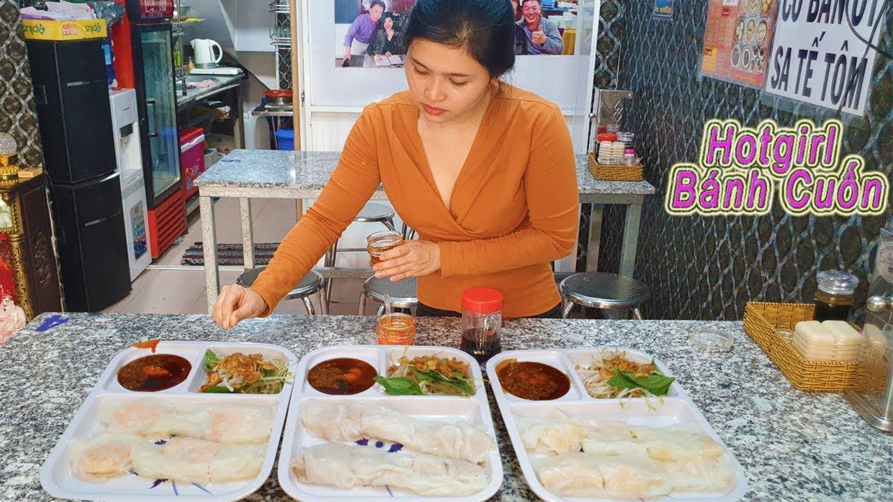 Em gái xinh đẹp bán Bánh Cuốn kiểu HongKong hiếm thấy ở Sài Gòn