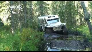 Makar terrain vehicle. Taiga. North Urals