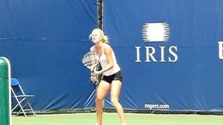 Urszula Radwanska Hitting Backhand Returns